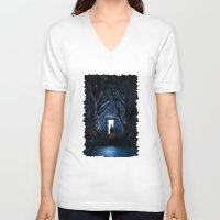gondor V-neck T-shirts featuring Doors Of Tardis by alifart