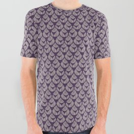 Purple drops All Over Graphic Tee