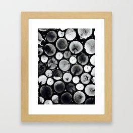 Black& White Wood Framed Art Print