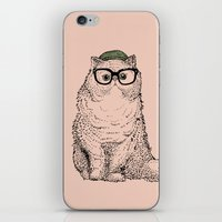 persian iPhone & iPod Skins featuring Hipster Persian Cat by Huebucket