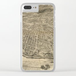 Vintage Pictorial Map of Tacoma WA (1893) Clear iPhone Case