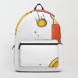Hand holding gold coin Backpack
