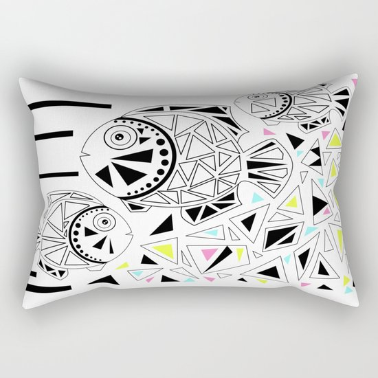 Marine fish . Rectangular Pillow