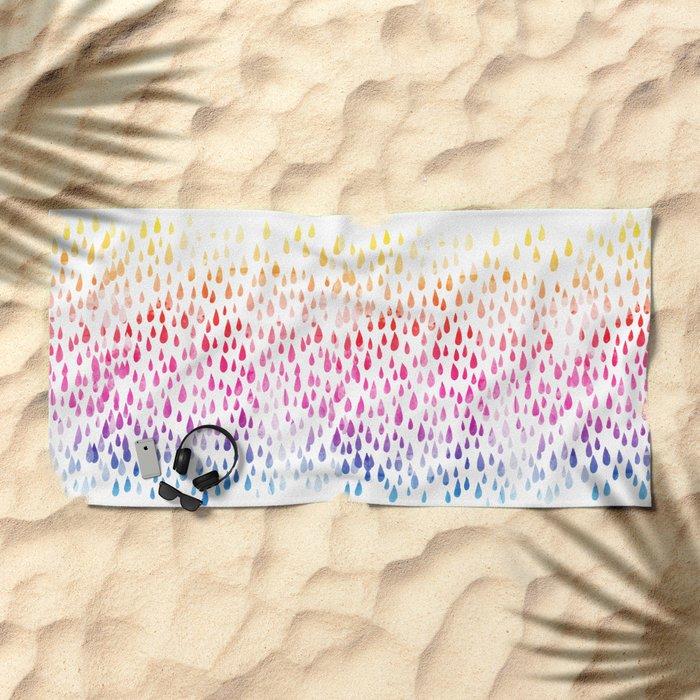Spring showers Beach Towel