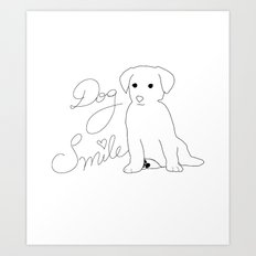 Dog Smile Art Print