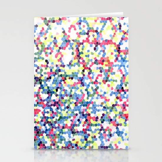 Abstract Hexies Stationery Cards