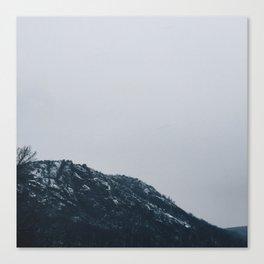 Snow on the Mountain Canvas Print