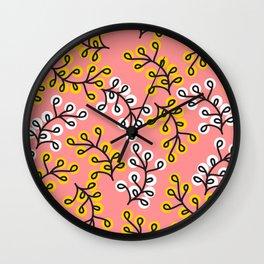 Berries on Salsa Rosada Wall Clock