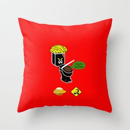 Dump in Toilets with Dirty Suites Throw Pillow