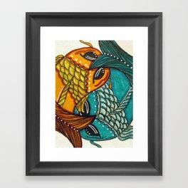 EMBRACE, KOI Fish Framed Art Print