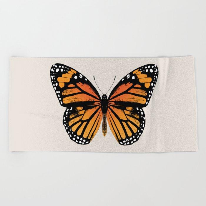 Monarch Butterfly | Vintage Butterfly | Beach Towel
