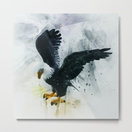 Bald Eagle Painting Metal Print