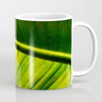 banana leaf Mugs featuring Banana leaf by helsch photography