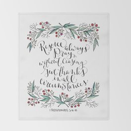 Rejoice Always Throw Blanket