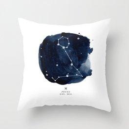 Zodiac Star Constellation - Pisces Throw Pillow