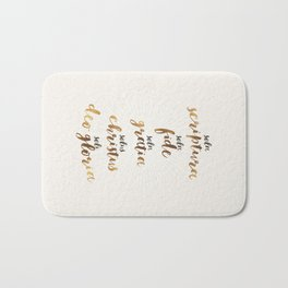 The Five Solas of the Reformation Bath Mat