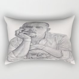 Alexander McQueen Savage Beauty Drawing Rectangular Pillow