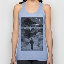 Black & White Collection -- Wandering Unisex Tank Top
