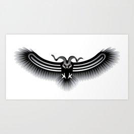Horned Owl on the Hunt Art Print