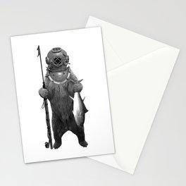 Harpoon Fishing Bear Stationery Cards