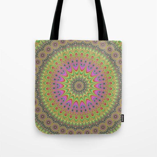 Floral ornament mandala Tote Bag
