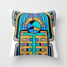 Scarabesque - Digital Art Deco Design Throw Pillow