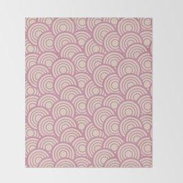 Pink Retro Throw Blanket