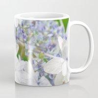hydrangea Mugs featuring Hydrangea by yumehana design fine art photography