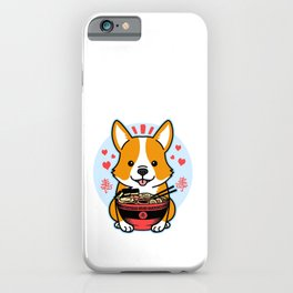 Corgi Ramen Cute Kawaii Anime Dog Japanese Noodles iPhone Case