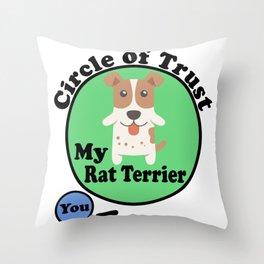 Circle Of Trust Cute Rat Terrier Throw Pillow