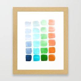Squared Gradients #2 Framed Art Print