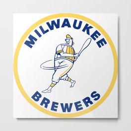 Milwaukee Brewer Metal Print