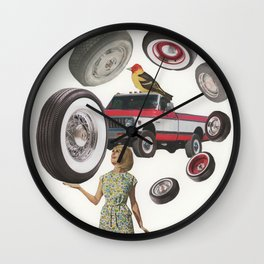 Edith's Juggling Act - Vintage Collage Wall Clock