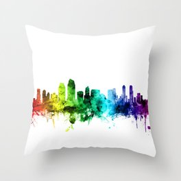 San Diego California Skyline Throw Pillow