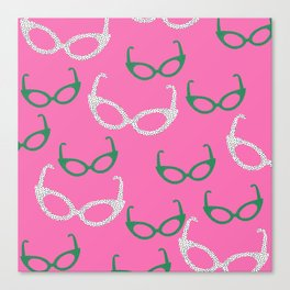 cat sunnies Canvas Print