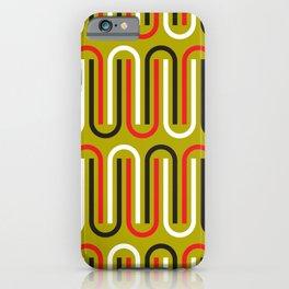 Geometric Pattern 110 (mustard red) iPhone Case