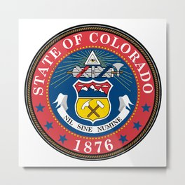 Colorado State Seal Metal Print