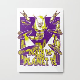 Death DJ from Planet 13 Metal Print