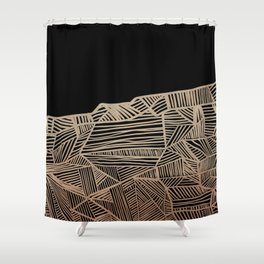 Modern improvisation 01 Shower Curtain