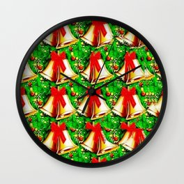 Christmas Bells Stereogram Wall Clock