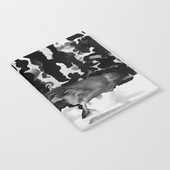 Dripping Tease in Black and White Notebook