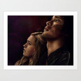 "Bellarke painting - ""I need you"" Art Print"