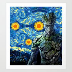 Guardian of the starry night iPhone 4 4s 5 5c 6, pillow case, mugs and tshirt Art Print