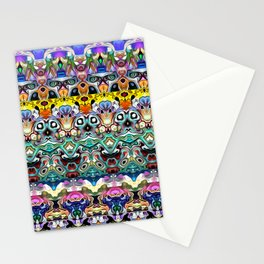 Colorful Shapes Metamorphosis Stationery Cards