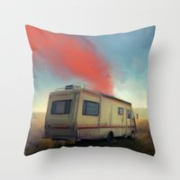 breaking bad Throw Pillows featuring breaking bad by robotrake