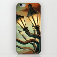 drunk iPhone & iPod Skins featuring Drunk Streetlamps by Remus Brailoiu
