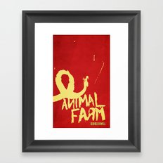 Animal Farm; George Orwell Book Cover Redesign Framed Art Print