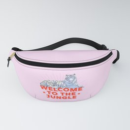 welcome to the jungle - retro tiger Fanny Pack