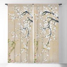 Ume flower painting,korean painting Blackout Curtain