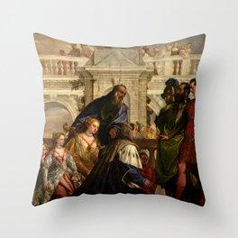 "Veronese (Paolo Caliari) ""The Family of Darius before Alexander"" Throw Pillow"